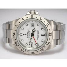 Rolex Explorer II Automatic Working GMT with White Dial Upgrade Version