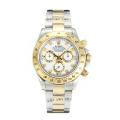 Rolex Daytona Cosmograph Chronograph Asia Valjoux 7750 Movement Two Tone with White Dial 1