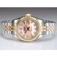 Rolex Datejust Automatic Two Tone with Pink MOP Dial