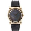 Rolex Cellini Full Gold Case Roman Markers with Black MOP Dial Black Leather Strap