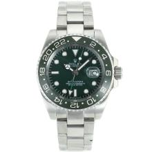 Rolex GMT-Master II Automatic Green Ceramic Bezel with Green Dial S/S
