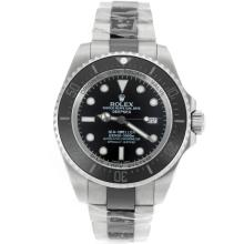 Rolex Sea Dweller Swiss ETA 2836 Movement Two Tone Ceramic Bezel with Black Dial Sapphire Glass
