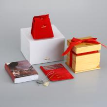 Omega High Quality Orange Wooden Box Set with Instruction Manual
