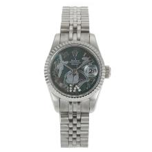 Rolex Datejust Automatic Roman Markers with MOP Dial Flowers Illustration