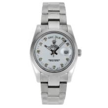 Rolex Day-Date Automatic Diamond Markers with White Dial Sapphire Glass