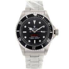 Rolex Sea Dweller Submariner 2000 Swiss ETA 2836 Movement Vintage Edition with Black Dial S/S-Rivet Strap-1