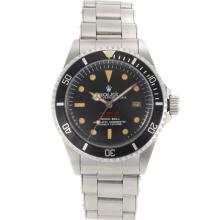 Rolex Sea Dweller Submariner 2000 Swiss ETA 2836 Movement Vintage Edition with Black Dial S/S-Rivet Strap