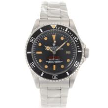 Rolex Sea Dweller Submariner 2000 Swiss ETA 2836 Movement Orange Markers with Black Dial S/S-Vintage Edition