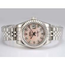 Rolex Datejust Automatic Pink MOP Dial with Diamond Marking