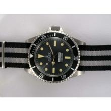 Rolex Submariner Comex Automatic with Black Dial and Bezel-Nylon Strap Vintage Edition