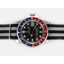 Rolex GMT-Master GMT Working Automatic with Black Dial Nylon Strap Vintage Edition