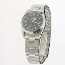 Rolex Explorer Automatic with Black Dial S/S(Gift Box is Included)
