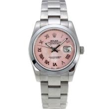 Rolex Datejust Automatic Roman Markers with Pink Dial S/S