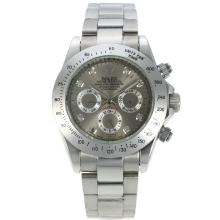 Rolex Daytona Automatic Diamond Markers with Grey Dial S/S(Gift Box is Included)