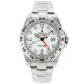 Rolex Explorer II Automatic Working GMT with White Dial S/S Same Chassis as ETA Version