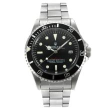 Rolex Sea Dweller Swiss ETA 2836 Movement Vintage Edition with Black Dial
