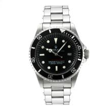 Rolex Sea Dweller Swiss ETA 2836 Movement Vintage Edition with Black Dial White Markers-Rivet Strap