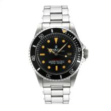 Rolex Sea Dweller Swiss ETA 2836 Movement Vintage Edition with Black Dial Orange Markers-Rivet Strap