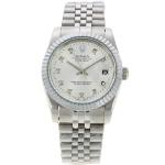 Rolex Datejust Automatic Diamond Markers with Silver Dial S/S-Sapphire Glass