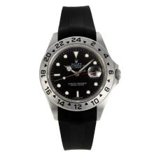 Rolex Explorer II Swiss ETA 2836 Movement with Black Dial Rubber Strap