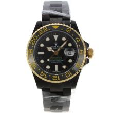 Rolex GMT-Master II Swiss ETA 2836 Movement PVD Case with Black Dial Sapphire Glass
