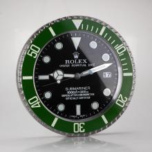 Rolex Submariner Wall Clock Green Bezel with Black Dial