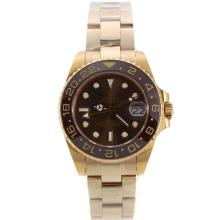 Rolex GMT-Master II Automatic Full Yellow Gold with Brown Bezel and Dial Medium Size