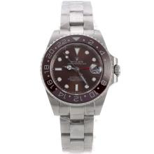 Rolex GMT Master Automatic with Brown Dial and Bezel S/S-Medium Size