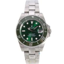 Rolex Submariner Automatic Ceramic Bezel with Green Dial S/S