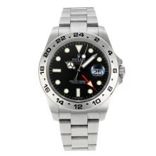 Rolex Explorer II Working GMT Swiss ETA 2836 Movement with Super Luminous Black Dial S/S