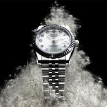 Rolex DateJust Automatic Diamond Markers with Silver Dial S/S(Extra Bracelet and Gift Box Included)