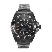 Rolex Sea Dweller Automatic Full PVD Ceramic Bezel with Black Carbon Fibre Style Dial Same Chassis as Swiss Version