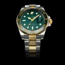 Rolex GMT-Master II Automatic Two Tone Green Ceramic Bezel with Green Dial(Gift Box is Included)