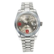 Rolex DateJust II Automatic with Silver Dial S/S-Diamond Markers-3