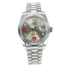 Rolex DateJust II Automatic with Silver Dial S/S-Diamond Markers-2