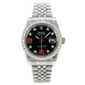 Rolex DateJust II Automatic Diamond Bezel with Black Dial S/S-Diamond Markers