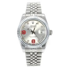 Rolex DateJust II Automatic with Silver Dial S/S-Diamond Markers