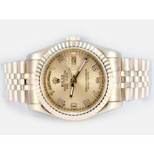Rolex Day-Date Automatic Full Gold with Golden Dial Number Marking