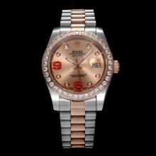 Rolex Datejust II Automatic Two Tone Diamond Bezel and Markers with Champagne Dial(Gift Box is Included)