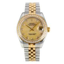 Rolex Datejust Automatic Two Tone Diamond Bezel with MOP Dial Same Chassis as ETA Version-2