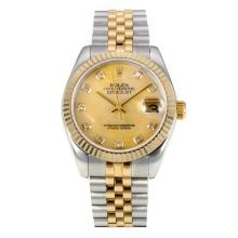 Rolex Datejust Automatic Two Tone Diamond Markers with MOP Dial Same Chassis as ETA Version-2