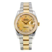 Rolex Datejust Automatic Two Tone Diamond Bezel with MOP Dial Same Chassis as ETA Version-1