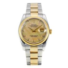 Rolex Datejust Automatic Two Tone Diamond Markers with MOP Dial Same Chassis as ETA Version-1