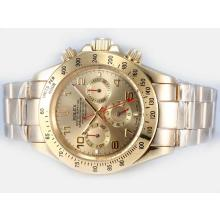 Rolex Daytona Automatic Full Gold with Golden Dial Number Marking-1