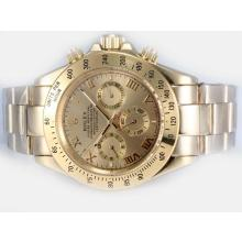 Rolex Daytona Automatic Full Gold with Golden Dial Roman Marking