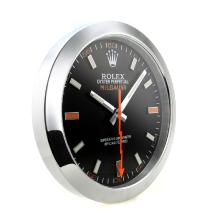 Rolex Milgauss Wall Clock with Black Dial Red Marker