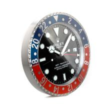 Rolex GMT-Master II Blue/Red Bezel Wall Clock with Black Dial