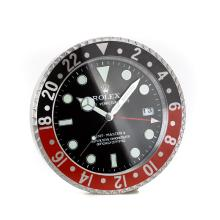 Rolex GMT-Master II Black/Red Bezel Wall Clock with Black Dial