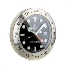 Rolex Explorer Oyster Perpetual Wall Clock with Black Dial