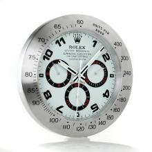 Rolex Daytona Oyster Perpetual Wall Clock with White Dial